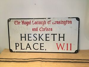Original London Street Sign - Hesketh Place W11  - Kensington & Chelsea