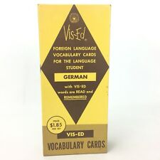 Vis Ed German Vocabulary Flash Cards Foreign Language with English Translation
