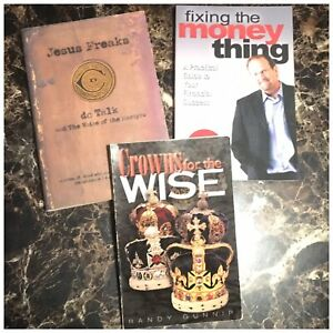 Lot Of 3 Christian Religious Books From Great Authors Martyrs Financial Wisdom