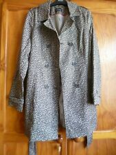 Ladies Leopardskin Raincoat/Jacket - George - Size 12 - Brand New