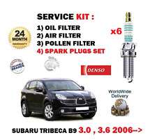 FOR SUBARU TRIBECA 3.0i 1/2005-> SERVICE SET OIL AIR POLLEN FILTER + PLUGS KIT