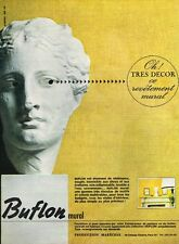 B- Publicité Advertising 1965 Le Revetement mural Buflon