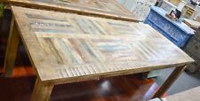 NEW Recycled  Timber Parquet Distressed Country Dining Table Eight  Seat Vintage
