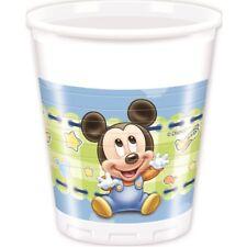 Bebé Disney Mickey Mouse 1º Cumpleaños Baby Shower vajilla gama fiesta 8 vasos