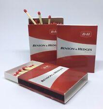 3x Streichholzschachtel Benson & Hedges red * B & H