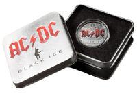 2018 Cook Islands AC/DC Black Ice 2 oz Silver $10 Coin GEM Proof OGP SKU55161