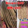 Brown + 24# Ombre Kanekalon Jumbo Braiding Synthetic Hair Extension Twist Braids