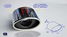 Terminale scarico inox universale auto per marmitta tuning acciaio cromato di