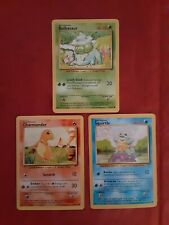New listing 1999 Pokemon Cards Bulbasaur Charmander Squirtle Base Set Mint