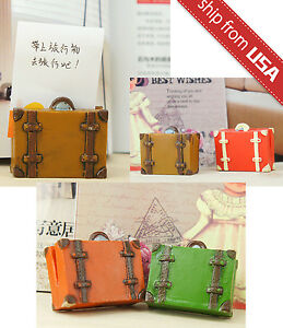 Lot 4pcs Picture Photo Message Note Memo Card Holder Stand Cute Novelty Suitcase
