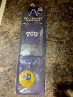 TCU Frogs 2-sided 29x43 Suede Banner House Flag Texas Christian University