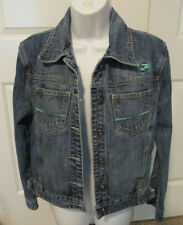 PEPE JEANS DENIM JEAN JACKET LONDON EMBROIDERED UPSIDE DOWN SIZE TAG SIZE XL