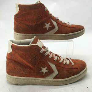 Converse Men 9.5 Women 11 Pro Leather 76 Mid Sneakers Heritage Suede Pack Orange