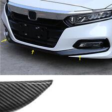 Carbon Fiber Look Front Bumper Lip Protect Cover Trim 3pcs for Honda Accord 2018