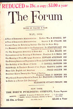 The Forum Magazine State Aid Universities House of Lord   May 1894