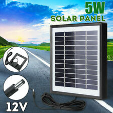 Mini 5W 12V Solar Panel Polysilicon Battery Charger For Car RV Boat+ 3m Wire Hot