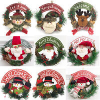 Christmas Wreath Decor Wall Door Hanging Ornament Garland Xmas Party Home Decor
