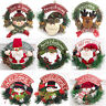 Christmas Wreath Wall Door Hanging Ornament Garland Xmas Party Home Decorations