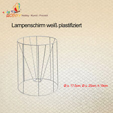 Lampenschirm weiß plastifiziert Ø o. 17,5cm, Ø u. 20cm, h 19cm