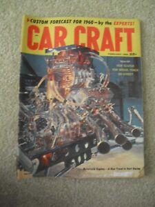 Vintage February 1960 Car Craft Automotive Magazine