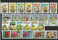Fungi Fruit Flowers Stamps Ref 23994