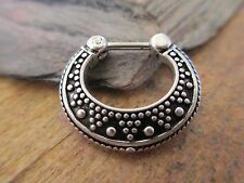 Boho Tribal Dots Pattern Septum Ring Clicker Hanger 16G (1.2mm) Piercing Uni-Sex