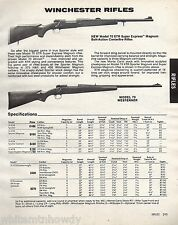 1984 WINCHESTER Model 70 XTR Super Express Magnum & Westerner Rifle AD
