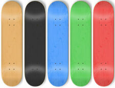 5 BLANK Skateboard STAINED COLOR DECKS 8.5 in + GRIPTAPE