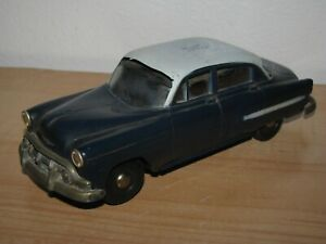 Vintage 1953 Chevy 4 Door Sedan Blue Plastic Toy Model Car Promo Promotional