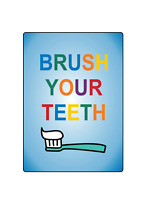 BRUSH YOUR TEETH DENTIST STOREFRONT ADVERTISING | Adhesive Vinyl Sign Decal