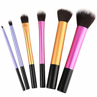 6pcs/set Women Pro Cosmetic Techniques Make Up Brushes Core Collection Starter