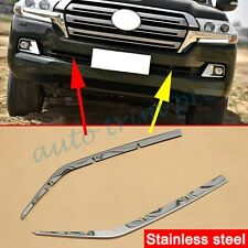 2X Steel Head Grill Stripe Trim For Toyota Land Cruiser LC200 Facelift 2016 2017