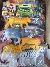 kit gioco animali grandi  leone tigre animal toy  giocattolo plastica savana