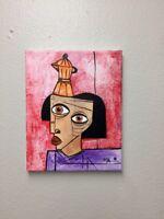 "PAINTING ORIGINAL OIL ON CANVAS CUBAN ART  8""X10"" By LISA."