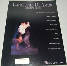 Canciones de Amor (Latin Love Songs) by Hal Leonard Corporation Staff (1998,...