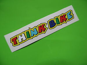 THINK BIKE valentino Rossi style stickers x2