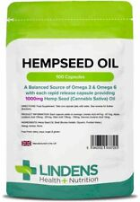 Hemp Seed Oil 1000mg 100 Capsules Lindens Health + Nutrition (3725)