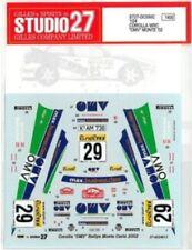"STUDIO27 1/24 TOYOTA COROLLA WRC ""OMV"" MONTE '02 for TAMIYA DC550C Decal"