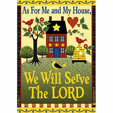"""As For Me And My House 28""""x40"""" House Flag by Jeremiah Junction"""