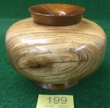 Stunning Ash & Oak 2 x Wood Species Pedestal Vase Signed & Dated 8.9.11 To Base