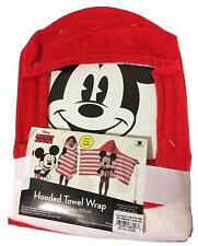 "Disney Mickey Mouse Hooded Towel Wrap 100% Cotton 22"" X 51"""