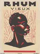 """RHUM VIEUX / WETTERWALD"" Etiquette litho originale"