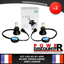 Kit ampoules LED H7 G5 6000k BLANC PUR auto moto 4000 Lumens