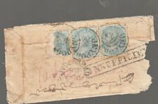 1870 HYDERABAD  INDIA Cover-2 Q V  HALF ANNA STAMPS & STAMPED, INSUFFICIENT-RARE