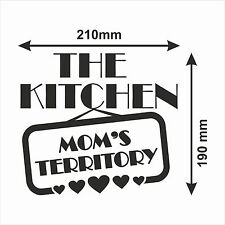 The kitchen mom's territory - vinyl art decal sticker / Art Vinyl Wall Sticker