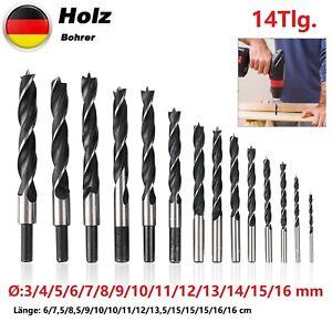 Holzbohrer Set 14-tlg 3-16 Mm Holz Bohrer Schreiner Spiralbohrer Holzbohrer Satz