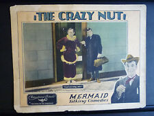 1929 THE CRAZY NUT - LOBBY CARD - SILENT COMEDY SHORT - MAN IN DRAG - GAY TRANS