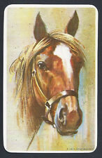 #930.244 Blank Back Swap Cards -MINT- Brown horse head, white border