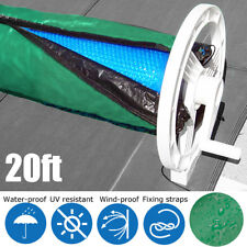 20ft Solar Blanket Winter Cover Collapsible For Swimming Pool Solar Roller