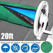 20ft Solar Blanket Winter Cover Collapsible For Swimming Pool Solar Roller Reel